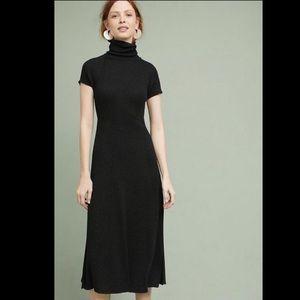 Anthropologie Dresses - Maeve Subtle Metallic Knit Turtleneck Rib Dress 2
